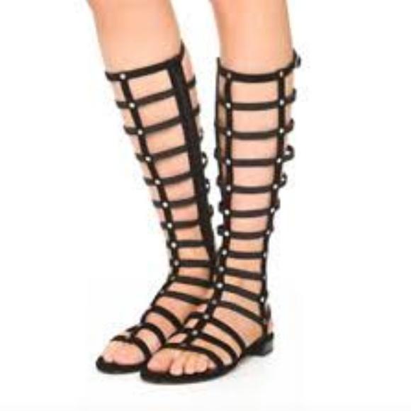 67cb58c2ec0d Stuart Weitzman Black Leather Gladiator Sandal. M 5c818055a31c334e649f93a5